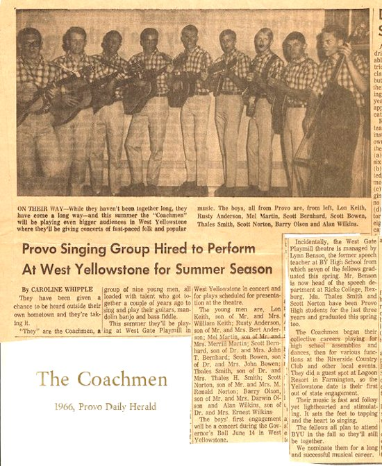 Coachmen 1966 Provo News Article