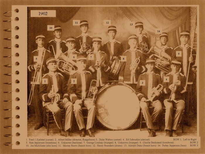 The BYA Band in uniform - 1902