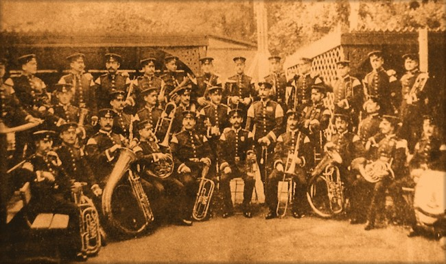 Courtley Military Band, Dresden, Germany, 1898