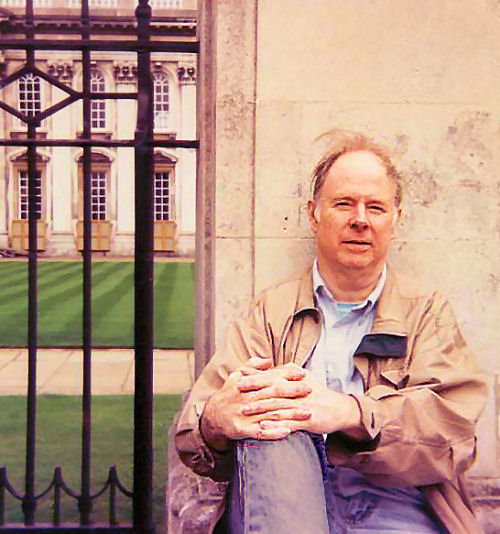 Tom Ryan, living in the UK, at Cambridge in 1995.