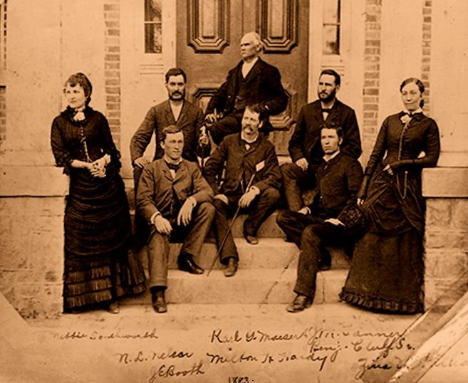 Faculty of Brigham Young Academy, Provo, in 1883
