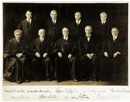 Photo of Justices of the Supreme Court in 1932