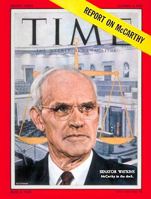 Sen. Arthur V. Watkins, Time Magazine, Oct 4, 1954