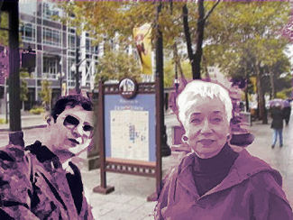 Carol Lynn Wright Pearson and friend, SLC