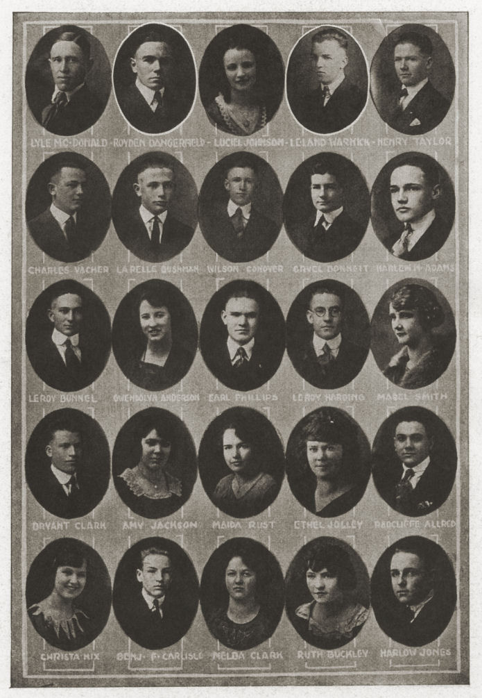 Brigham Young High School, Class of 1921
