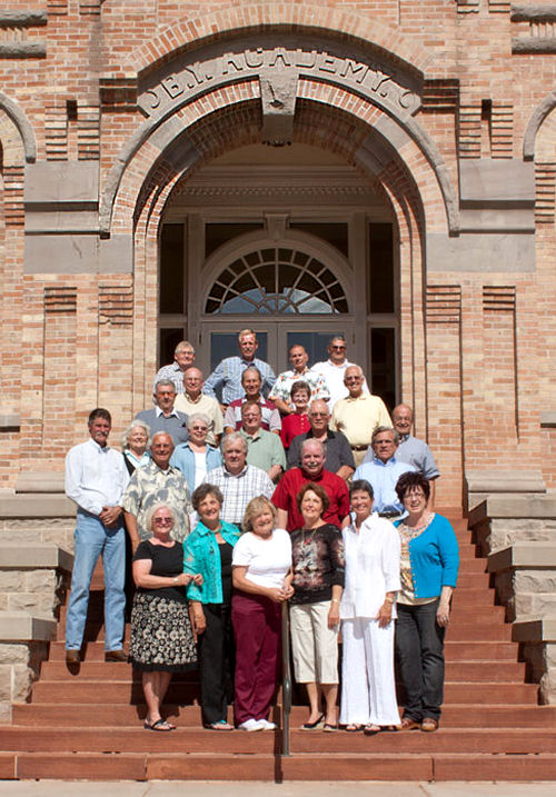 Click - BYH Class of 1960 On The Steps in 2010