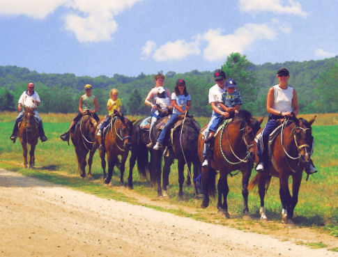 Horse-back riding set for August 18, 2007