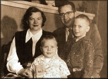 Morris A. Shirts Family in 1954
