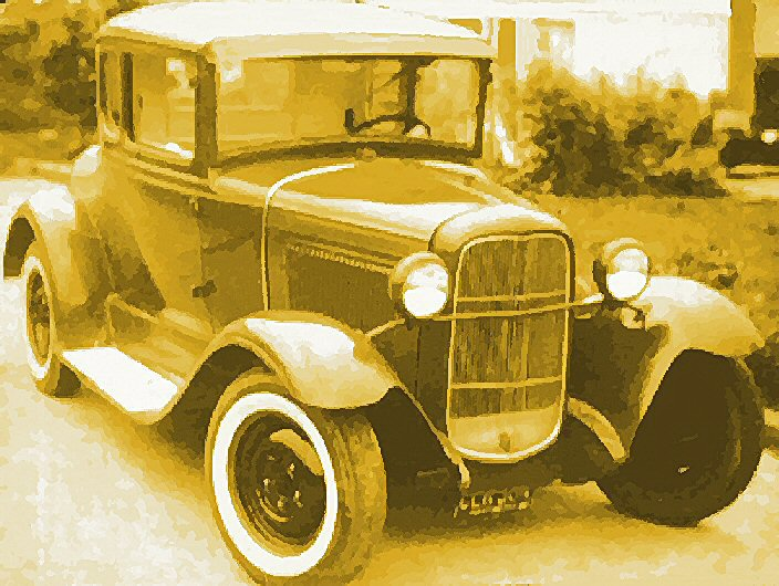 Model A Ford, rumble seat closed