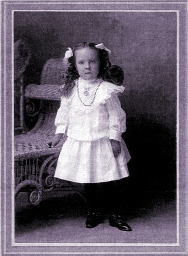 Anna B. Hart as a child