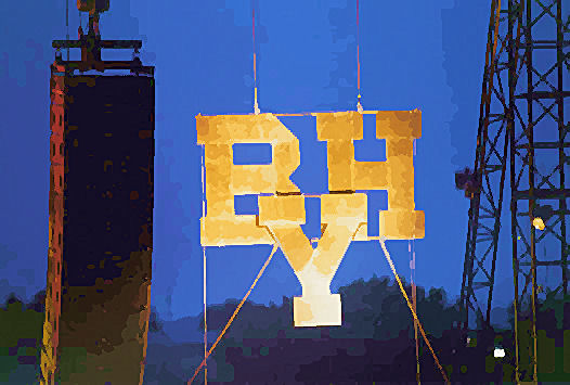 Brigham Young High School block letters