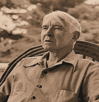 Carl Sandburg, sepia photo