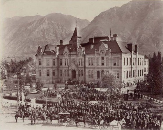 Brigham Young Academy Building dedication, 1892.