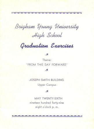 Brigham Young High School Graduation Program Collection
