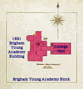 Brigham Young Academy map in 1900