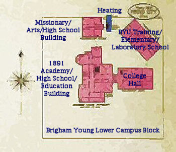Brigham Young Academy map in 1903