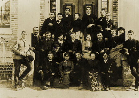 Brigham Young Academy high school students in 1877