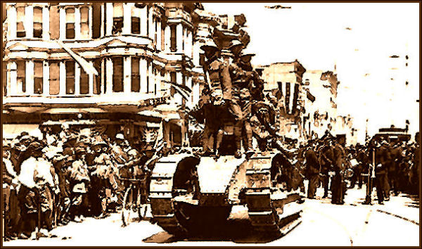 Veteran's Parade in Ogden- End of World War I