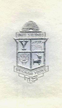 Brigham Young High School Seal 1 - Blue
