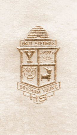 Brigham Young High School Seal 2 - Gold