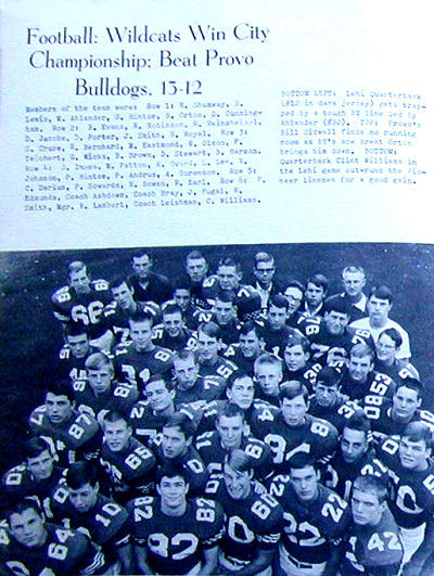The Final BYH Football Team in 1968