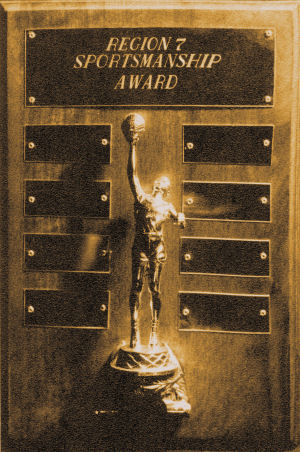 Region 7 Sportsmanship trophy, 1962-1963, BYH