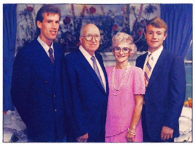 The Verl Allman family, Provo, Utah
