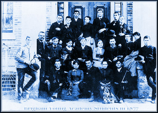 Brigham Young Academy Students in 1877