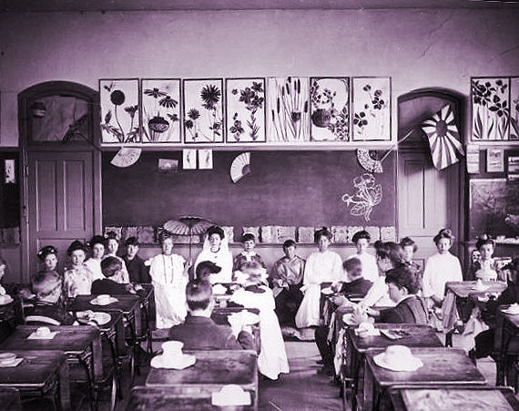 Japanese presentation by 1904 Training School kids